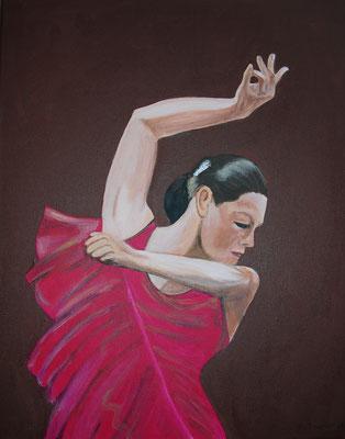 Flamenco rot (50x40 cm)