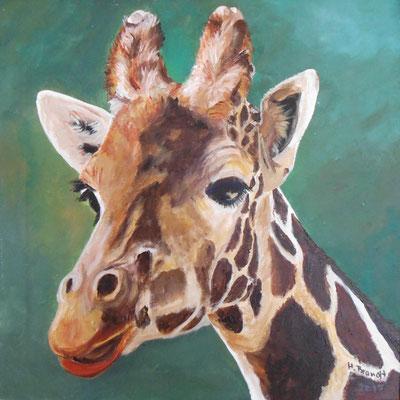 Giraffenkopf (40x40 cm)