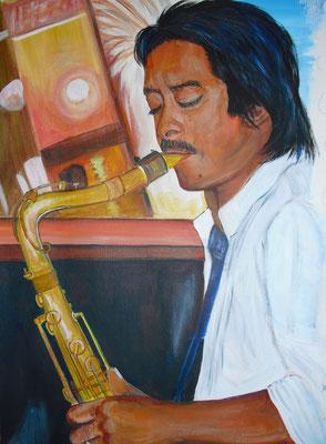 Saxophon-Spieler (60x40 cm)