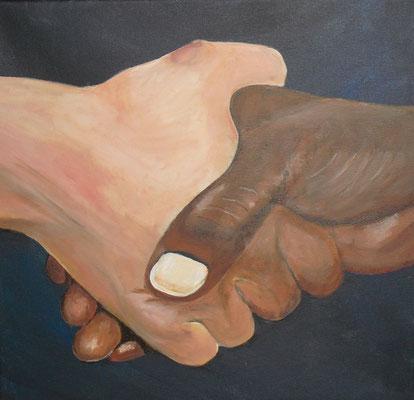 Hände 2 (40x40 cm)