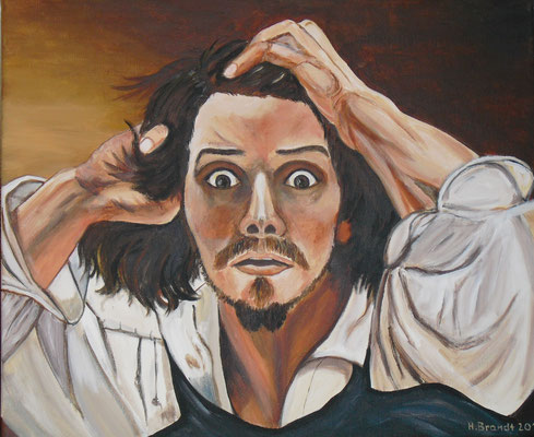 Courbet : Selbstbildnis (45x54 cm)