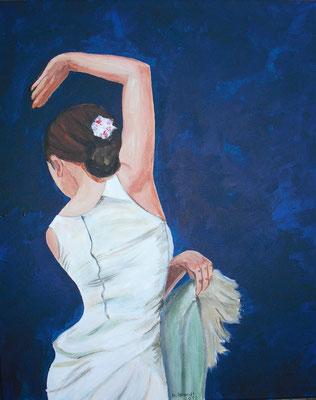 Flamenco weiß (50x40 cm)