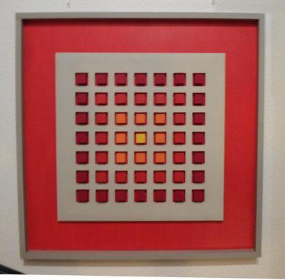 Kunst im Quadrat, rot (76x76 cm)
