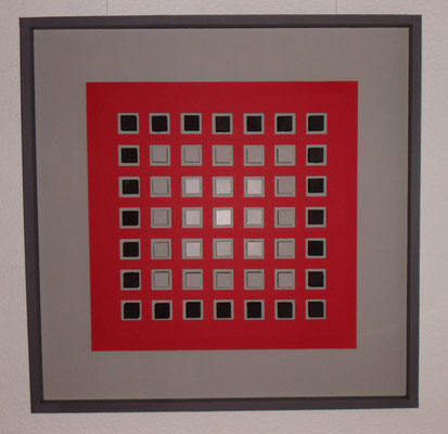 Kunst im Quadrat, grau (76x76 cm)
