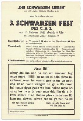 CASerer Fasching 1928 Schwarzes Fest Seite 2