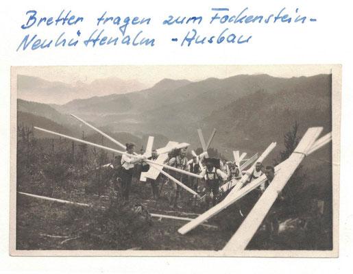 Holztransport zum Neuhütten-Alm Ausbau