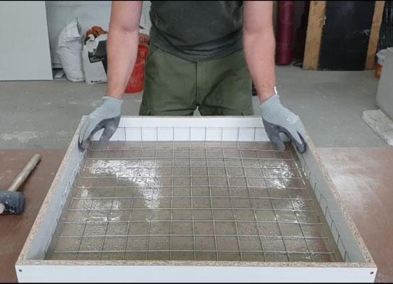 einen couchtisch aus beton selber bauen betonm bel einfach selber machen. Black Bedroom Furniture Sets. Home Design Ideas