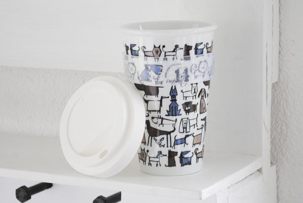 Coffee2go Bescher, Porzellanbecher, Coffee to go Becher, Nachhaltige  Kaffeetasse