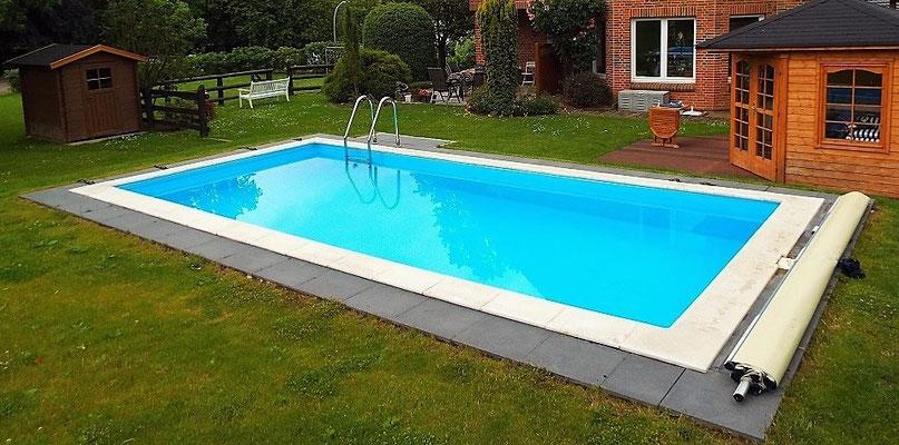 Aussenschwimmbecken 3,50 x 7,50 x 1,50