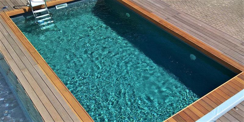 graue Schwimmbadfolie