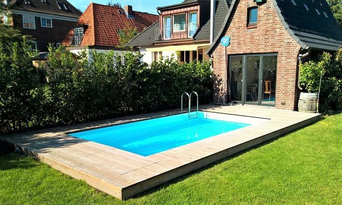 Schwimmbad im Stadt-Garten in Hamburg