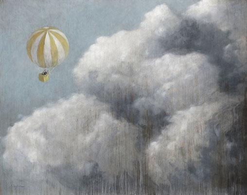 Thomas Bossard, artiste peintre, Voyage I, huile sur toile, 114 x 146 cm