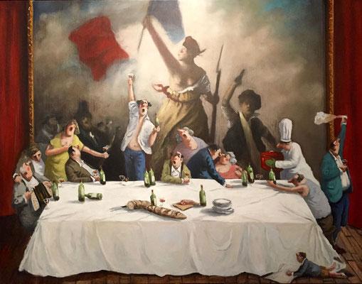 Thomas Bossard, artiste peintre, La liberté n°2, huile sur toile,