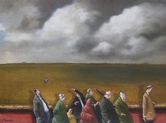 Thomas Bossard, artiste peintre, automne, huile sur toile, 130 x 97 cm