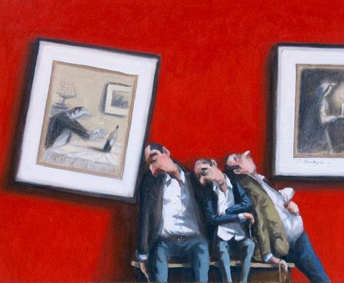 Thomas Bossard, artiste peintre, Grosse fatigue n°2, huile sur toile, 61 x 50 cm