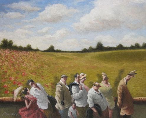 Thomas Bossard, artiste peintre, Ete, huile sur toile, 130 x 97 cm