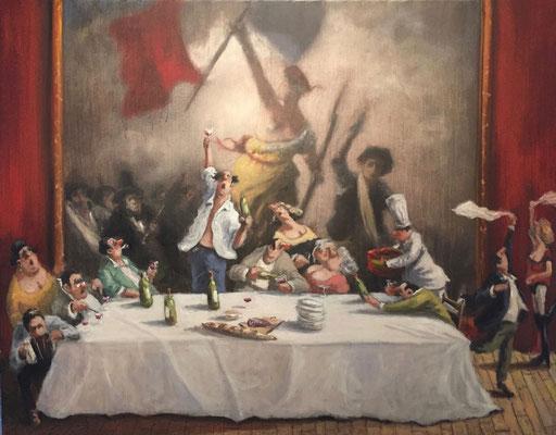 Thomas Bossard, artiste peintre, Liberté, huile sur toile