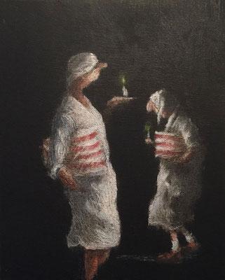 Thomas Bossard, artiste peintre, Nocturne, huile sur toile