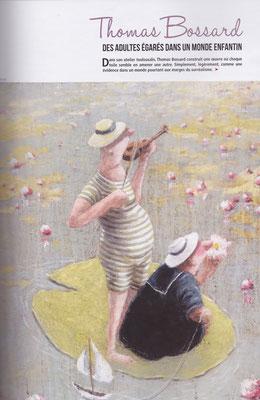 Thomas Bossard, artiste peintre, article santé mentale, illustration de l'ensemble de l'ouvrage