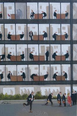 Thomas Bossard, artiste peintre, Lundi matin, huile sur toile, 120 x 80 cm