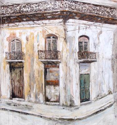 Artiste peintre, peinture, Cuba, Huile sur toile, Thomas Bossard
