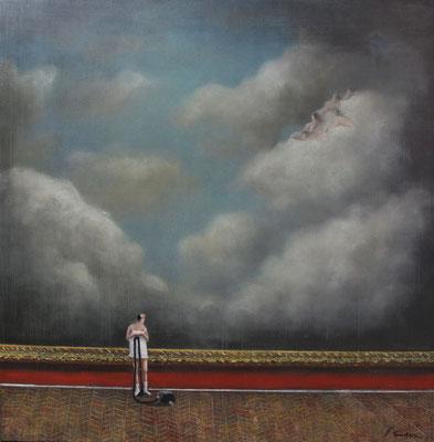 Thomas Bossard, artiste peintre, Rêve, huile sur toile, 120 x 120 cm