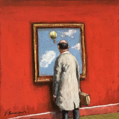 Thomas Bossard, artiste peintre, huile sur toile, 50 x 50 cm