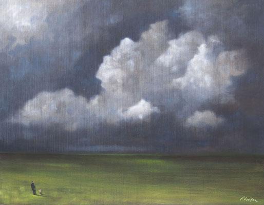 Thomas Bossard, artiste peintre, Génération I, huile sur toile, 114 x 146 cm