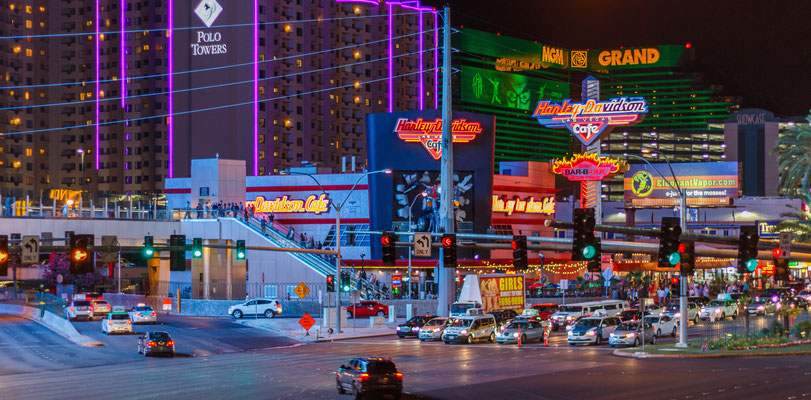 Las Vegas Blick auf den Strip