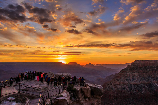 Grand Canyon Sonnenaufgang am Mather Point