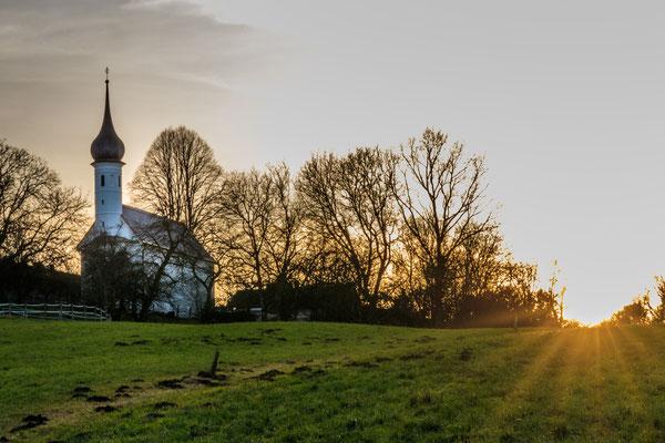Blick zurück auf die St. Jakobus Kirche