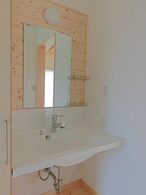 永く暮しいい平屋 造作洗面台