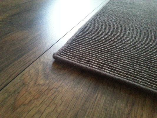 Teppich, Brücke, Läufer Sisal in braun aus Fasern der Sisal-Agave Anti-Rutsch Rückenbeschichtung aus Natur-Latex ca. 217cm x 86cm