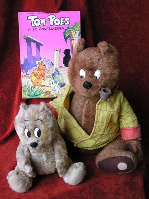 Tom Poe's le chat et Mr Bommel. Personnages créés par Marten Toonder (Pays Bas)