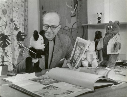 Marten Toonder, créateur de Panda, Tom Poe's et Mr Bommel (Pays Bas)