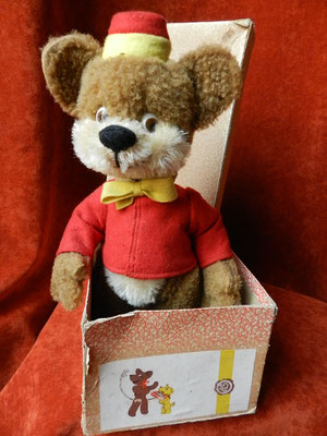 L'ours Bongo et sa boite d'origine