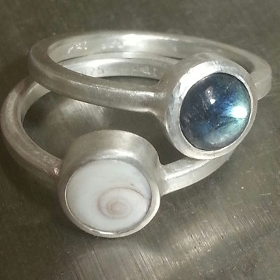 Shivaeye, Labradoritring, Silber