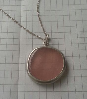 Rosenquarz, Silber