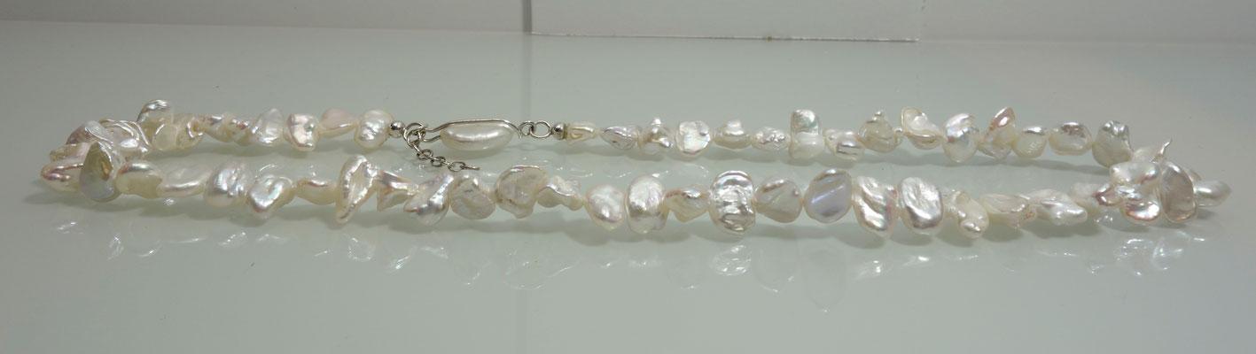 Perlenkette, Silber