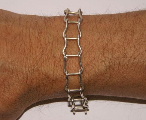 Silberarmband Kettenglieder