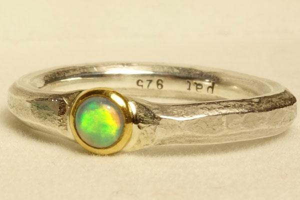 Opal, Silberring, Gold