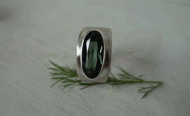 Silberring Turmalin (synthetisch)