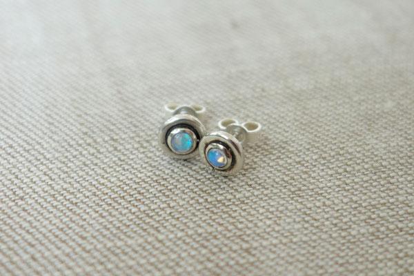Opal, Silberohrstecker