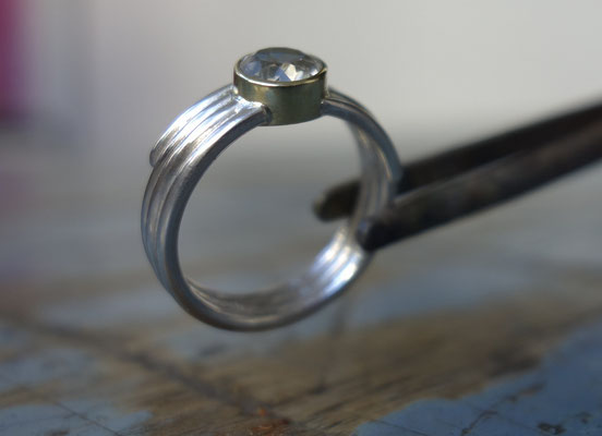 Bergkristall - Silber - Gold