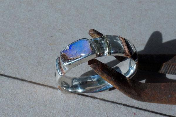 Opal, Silberring