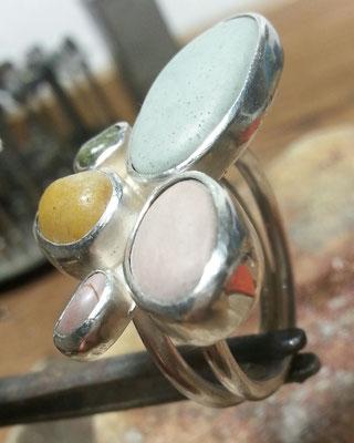 5 Meersteinering, Silber