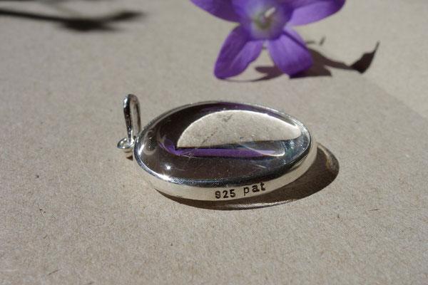 Bergkristall, Silberanhänger