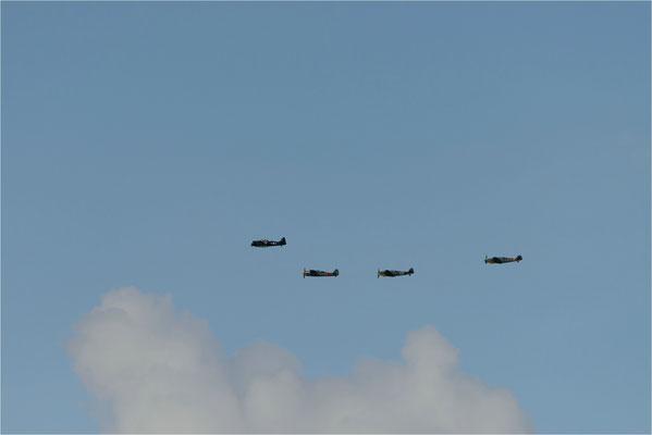 Fotoshooting   Fw-190 A8N - Bf-109 G14 und Bf-109 G6