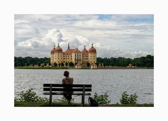 """Es war einmal -  """" Jagdschloss Moritzburg""""  das Märchenschloss aus dem Film  3 Haselnüsse für Aschenbrödel. Bildgröße: 30 x 45 cm       Bildnummer:   010 / R"""