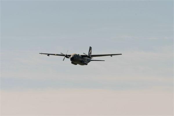 Transall Abschiedstour Begleitflugzeug im Anflug zur Startbegleitung
